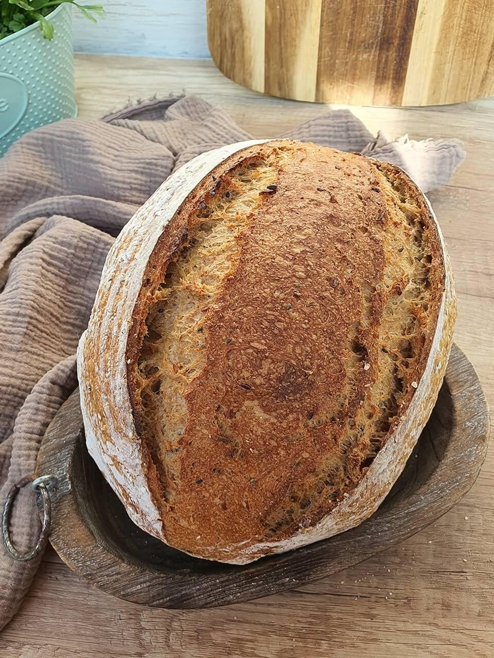 Chlieb s ovsenou kašou