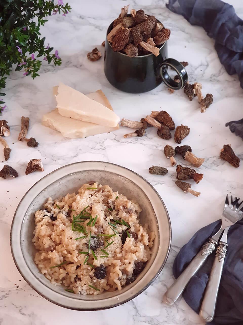 Krémové hubové rizoto zo smrčkov