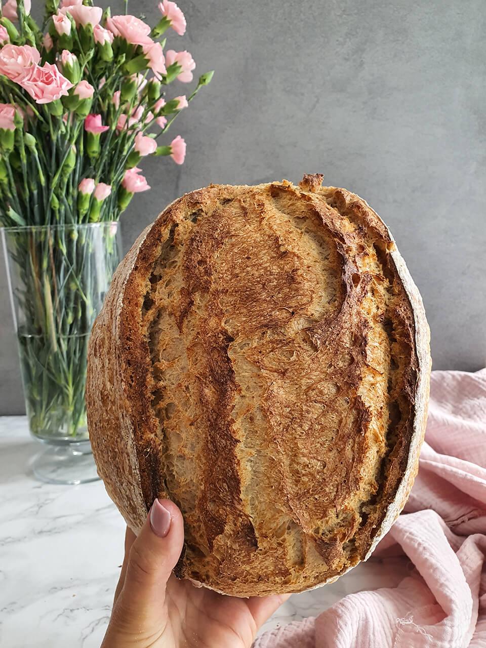 Pšenično-špaldový chlieb so záparou