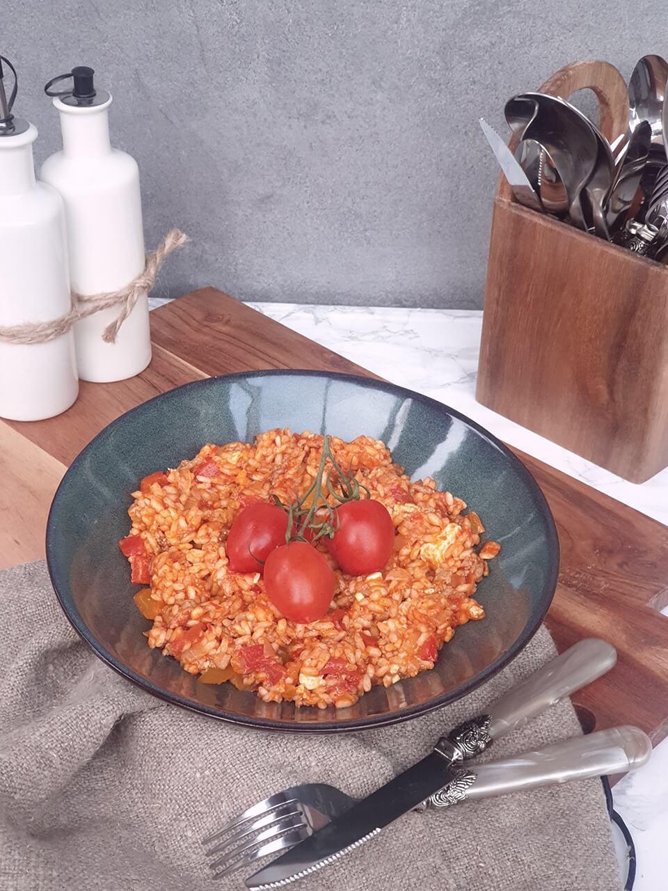 Teplý ryžový šalát