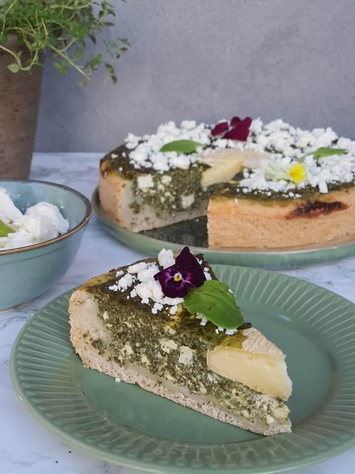 Špenátovo-syrový koláč