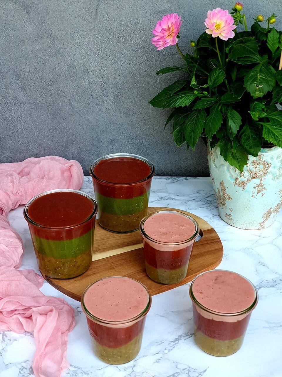 Farebné poháriky