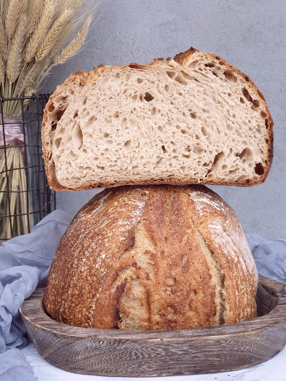 Kamutový chlieb s kefírom
