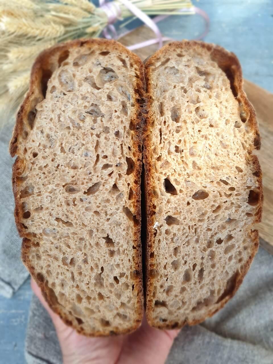 Celozrnný špaldový chlieb